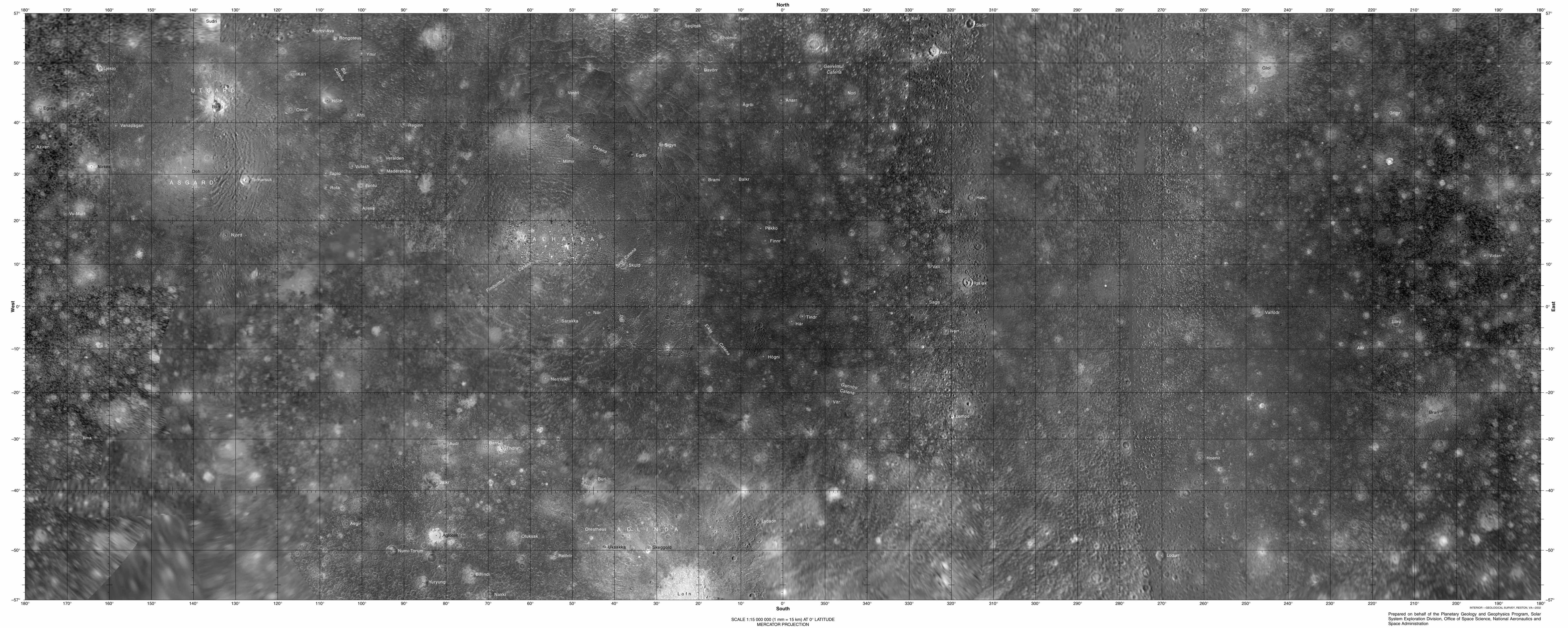 Callisto Map Jupiter